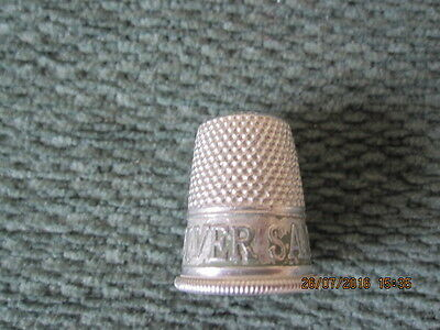Vintage Metal Thimble Advertising Andrews Liver Salt