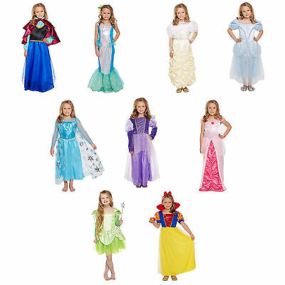 Girls Princess Fancy Dress Costume Party Outfit Ages 4-12 World Book Day NEW