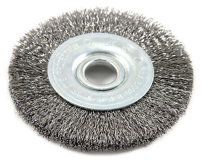 Forney 72748 Wire Wheel Brush, Fine Crimped with 1/2-Inch Arbor, 3-Inch-by-.008-