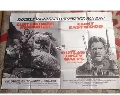 THE OUTLAW JOSEY WALES Clint Eastwood 1976 Original UK Quad Poster