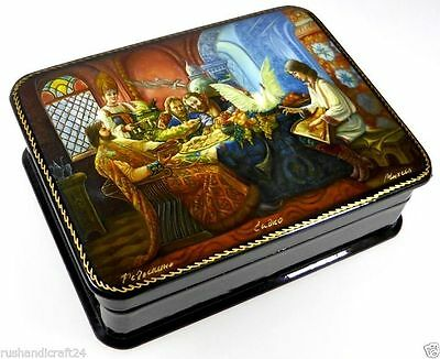 """Sadko - Садко"" Russische Lackmalerei Lackdose Russian lacquer box Fedoskino"