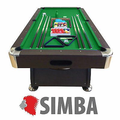 8 Ft Pool Table Billiard Playing Game billiards table Green Cloth Indoor Sports