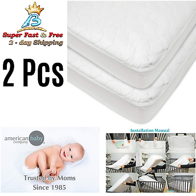 Toddler Mattress Cover Waterproof Fitted Crib Pad Baby Bedding For Girls Boys