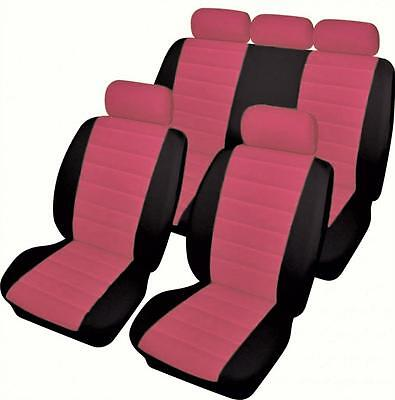 BMW 3 Series Gran Turismo - Full Set of PINK/BLACK Leather Look Car Seat Covers