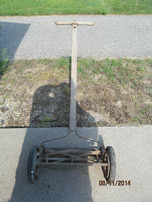 Old Antique Vintage Manual Rotary Reel Hand Push Lawnmower