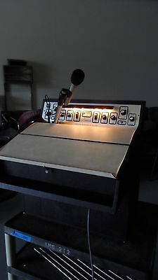 Vintage Sound Craft System Lecternette Model L56B & Microphone SC22