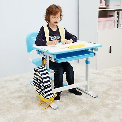 Ergonomic Kids Desk Chair Height Adjustable Children Study Desk Tilting Desktop