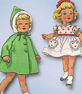 1960s Vintage Simplicity Sewing Pattern 4652 20inch Chatty Cathy Doll Clothes