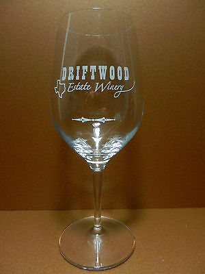 Driftwood Estate Winery Stemmed Bordeaux Style Crystal Wine Glass Texas