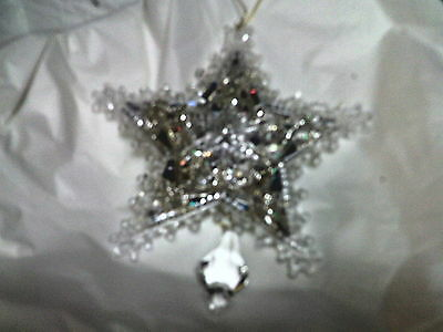 Snowflake / Star clear for window or tree