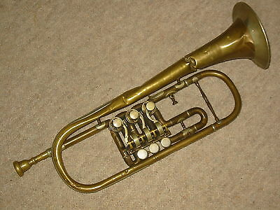 """old rotary trumpet in C, Needs repair and cleaning. """"Bohland & Fuchs"""""""