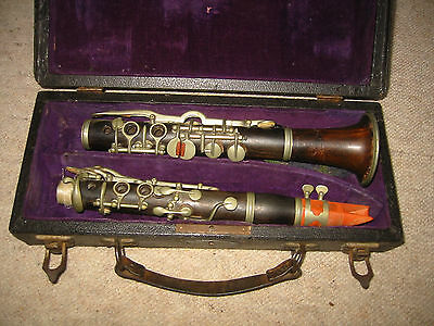 nice old wooden Eb Clarinet ,4 rings albert system