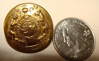 State Seal of Missouri vintage Gold-toned Button Waterbury Co  United We Stand
