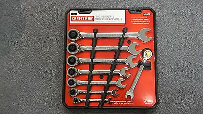 "CRAFTSMAN  942404 8Pc SAE REVERSIBLE RATCHETING WRENCH SET 5/16""-3/4"""