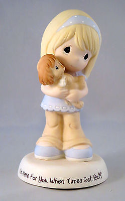 Girl Puppy Precious Moments Figurine I'm Here For You When Times Get Ruff Dog