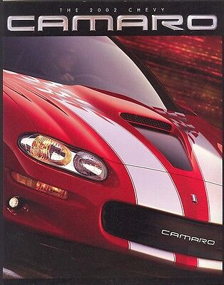 2002 Chevrolet Camaro 35th Anniversary SS Coupe SS Z28 Sales Brochure