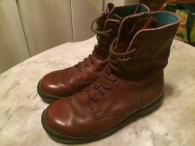 rare TZADDIK Tzahal Israel army military officer mens boots sz 44 gay interest