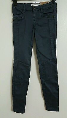 NEW H&M Size 8-18 Skinny Fit Soft Stretchy Low Waisted Utility Blue Cargo Jeans