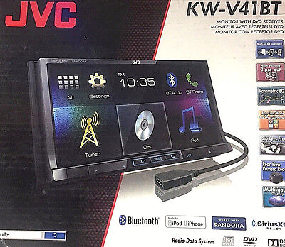 "JVC KW-V41BT DVD CD Player 7"" Touch Bluetooth Android iPhone Pandora Radio NEW"