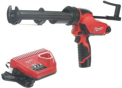 Milwaukee 12 Volt Lithium Ion Cordless Caulk Caulking Adhesive Gun Kit