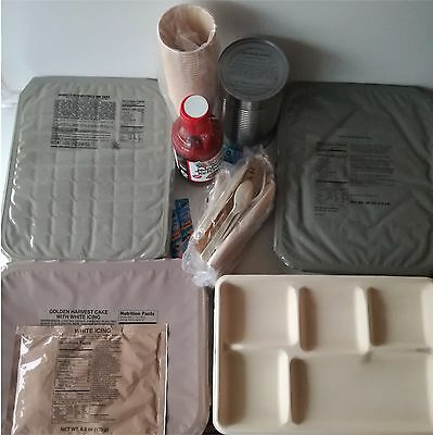 Food Ration MILITARY Army MRE TRAY Packs US Emergency Set Combats 2018 Insp Date