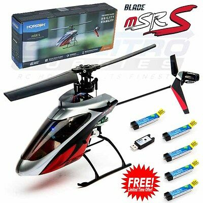Blade BLH2980 mSR S BNF Helicopter with Free 4X Eflite 150mAh 45C LiPo Battery