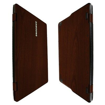 """Skinomi Dark Wood Skin+Clear Screen Protector For Samsung Notebook 9 Spin 13.3"""""""