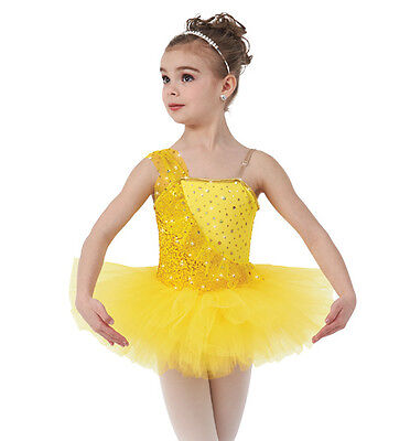 Once Upon A Dream Dance Costume Yellow Ballerina Sequin Ballet Tutu Clearance