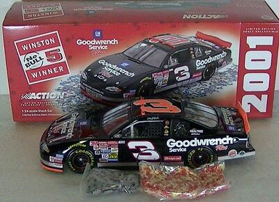 Dale Earnhardt Sr #3 Goodwrench S Plus/No Bull Raced Ve 2001 1/24 NASCAR Diecast