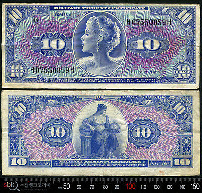 USA 1961,Military Payment Series 611, 10 Dollars,H07550859H, S877-1, VF