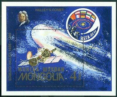 Mongolia Scott #1563 MNH Halley's Comet Spacecraft CV$4+