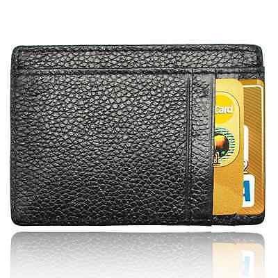 AIKELIDA Rfid Money Clip Leather Front Pocket Slim Wallet Credit Card ID Holder