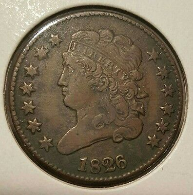 1826 Classic Half Cent. Rotated Reverse