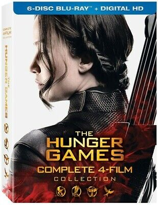 Hunger Games: Complete 4 Film Collection - 6 DISC S (2016, REGION A Blu-ray New)