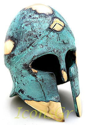 Ancient Greek Bronze Museum Replica Vintage Corinthian Soldier Battle Helmet 378