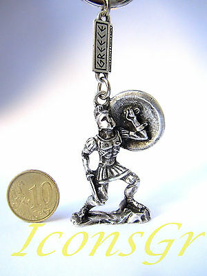 Keyring Leonidas King Sparta 300 Ancient  Greek Vintage Zamac Spartan Miniature
