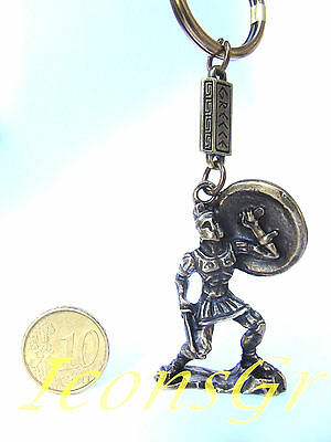 Ancient Greek Vintage Zamac Spartan Miniature Keyring 300 Leonidas King Sparta