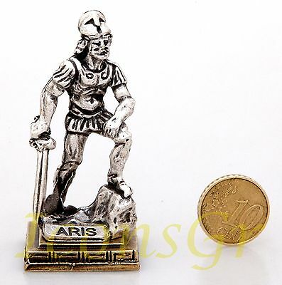 Ancient Statue Ares King Of War Greek Olympian God Miniature Sculpture Zamac S