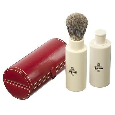 Kent Travel Shaving Brush Badger Bristle Ivory Colour FREE UK SHIPPING SHAVE TR