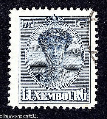1921 Luxembourg 75c Blue SG 237 FINE USED R24418