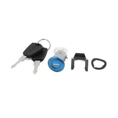 Cylinder Security Sitting Seat Lock w 2 Keys Set for Motorcycle Scooter
