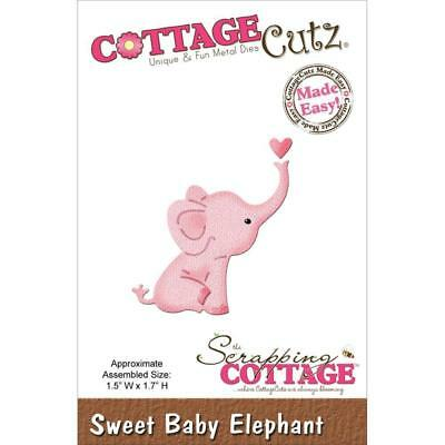 Cottage Cutz  metal cutting & embossing die set sweet baby elephant