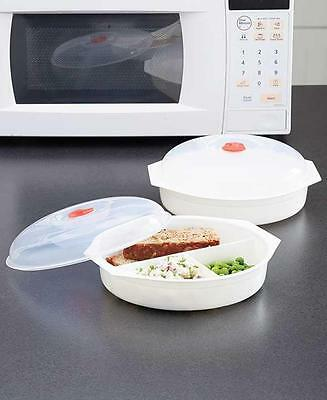 Microwave Must Haves: Divided Plates Heat, Separate & Serve An Entire Meal
