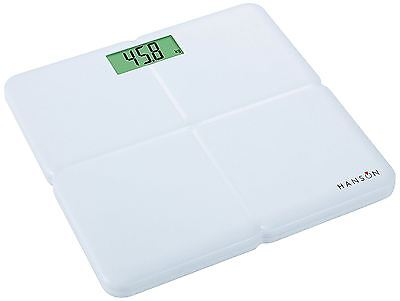 Hanson Digital Bathroom Weight Scale Electronic White Weighing Scales New