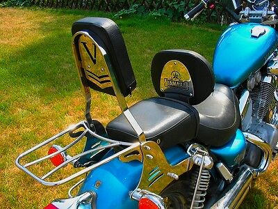Yamaha Xv 535 Xv535 Virago Sissy Bar Passenger Backrest + Luggage Rack!