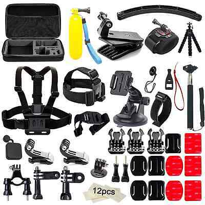Soft Digits 50 in 1 Action Camera Accessories Kit for GoPro Hero 5 4 3+ 3 2 1 wi