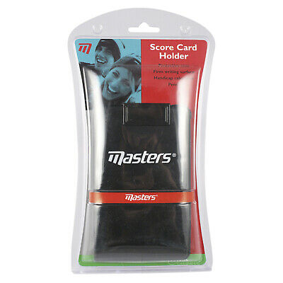 Masters Score Card Holder + Pencil - New Protective Golf Case