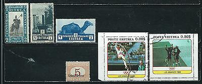 Eritrea - 6 stamps mixed  -  Years 1920  to 1984