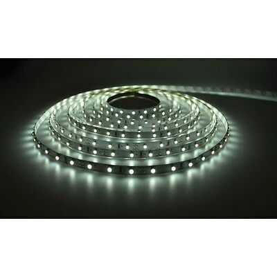 PowerPax UK 5MFL-300SMD-W + C4229 5m 12V LED Strip Cool White 2.1mm 60pcs 4.8W