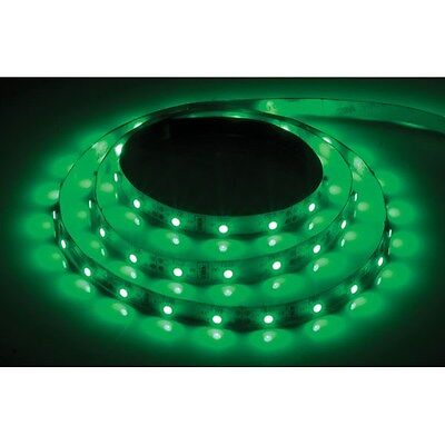 PowerPax UK 1MFL-300SMD-G + C4229 1m 12V LED Strip Green 2.1mm Input 60pcs 4.8W